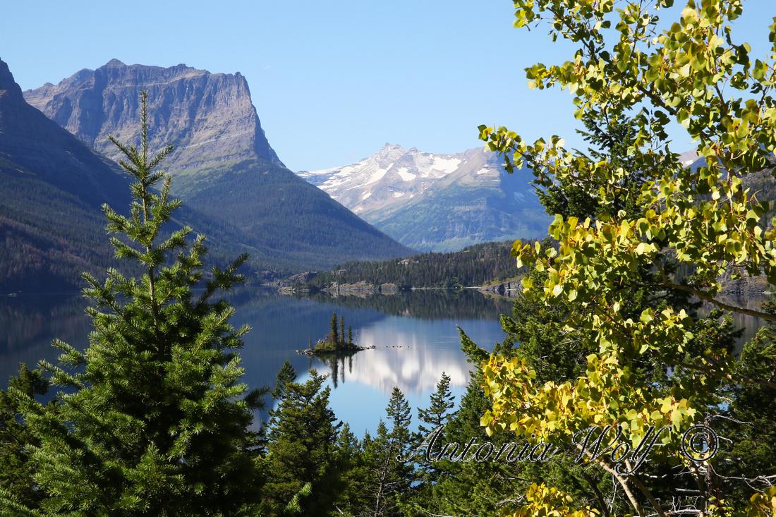 View towards the Goose Island Glacier