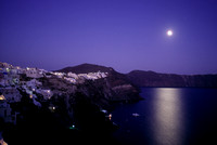 Moonlight over Santorini
